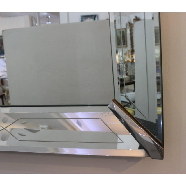 Vintage American Art Deco Mirror For Sale In West Palm - Image 6 of 12