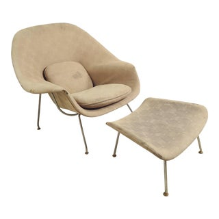 """Womb"" Chair and Ottoman by Eero Saarinen For Sale"