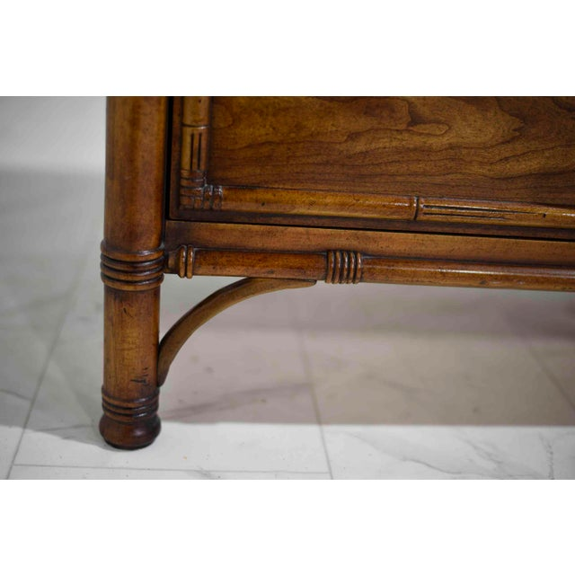 """Drexel Heritage """"Malay"""" Walnut & Faux Bamboo Dresser For Sale - Image 9 of 13"""