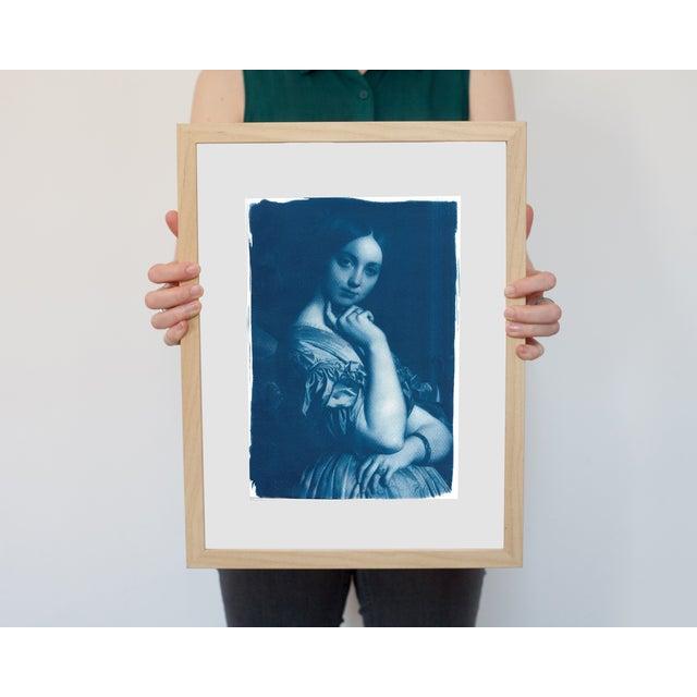 Cyanotype Print - Ingres Portrait of Young Woman - Image 4 of 4