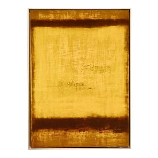 Medium Color Field Untitled Yellow #4, Fine Art Giclée on Archival Paper, Framed For Sale