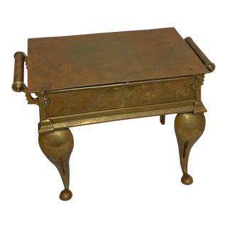 Regency Brass Footman Side Table For Sale