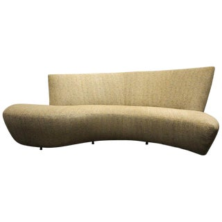 Large Sculptural Bilbao Sofa by Vladimir Kagan New Upholstery For Sale