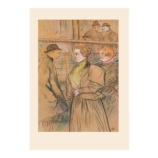 "Rare 1950s Henri De Toulouse-Lautrec ""At the Moulin Rouge"", First Edition Lithograph For Sale"