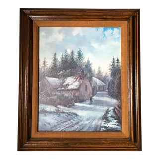 Vintage Winter Scene Print For Sale