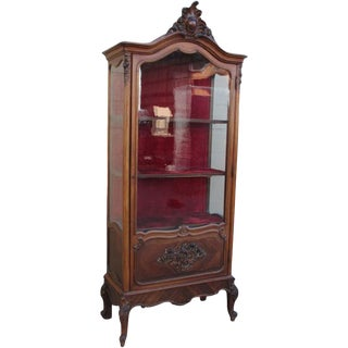 Antique French Display Cabinet Vitrine China Cabinet