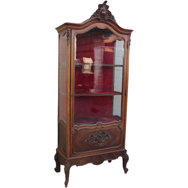 Antique French Display Cabinet Vitrine China Cabinet - Antique French Display Cabinet Vitrine China Cabinet Chairish
