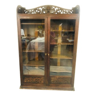 Late 19th Century Bookcase With North Wind Face For Sale