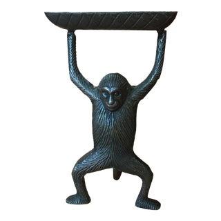 Art Nouveau Solid Bronze Monkey Business Card Holder