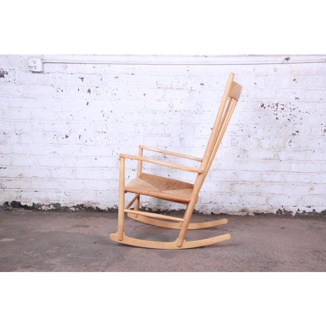 Contemporary Hans J. Wegner J16 Danish Rocking Chair For Sale - Image 3 of 8