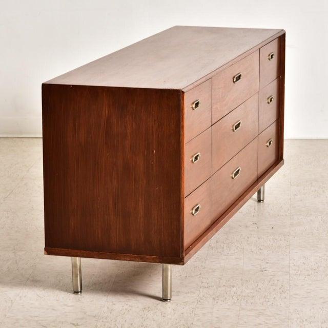 1970s Vintage 9 Drawer Dresser For Sale - Image 5 of 8