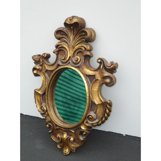 Vintage Syroco Gold Floral Wall Mirror - Image 3 of 11