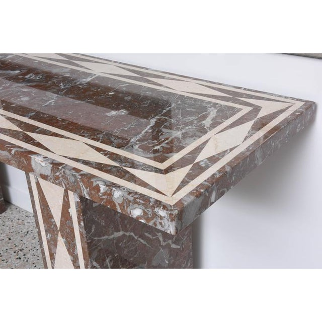 Large-Scale Italian, Neoclassical-Style Marble Console/Buffet Table - Image 4 of 9