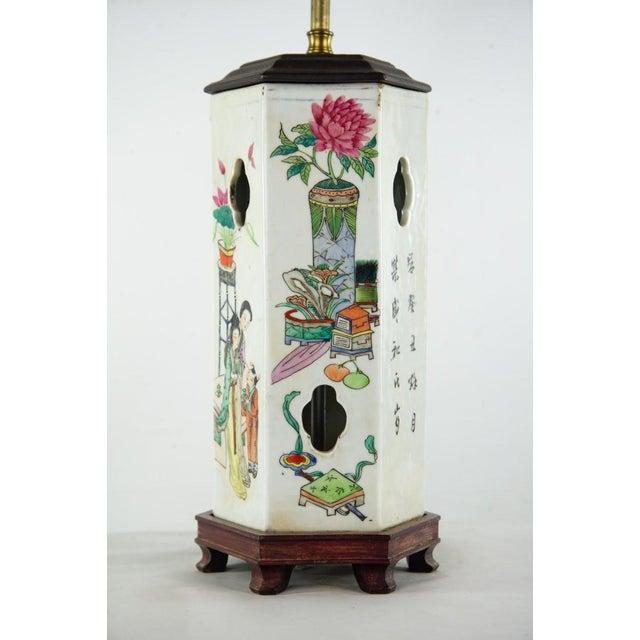 Ceramic Chinoiserie Ginger Jar Table Lamp For Sale - Image 7 of 13