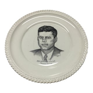 1960s Traditional John F. Kennedy Ceramic Plate For Sale