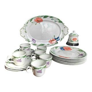 Vintage Villeroy & Boch Amapola Pattern Dinnerware - 20 Pc. Set For Sale