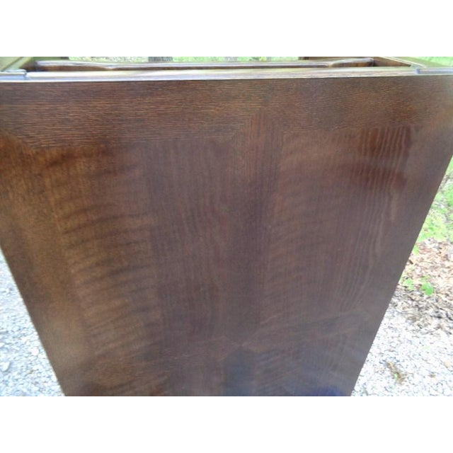 Mid Century Quartersawn Oak Chinoiserie Coffee Table For Sale - Image 11 of 13
