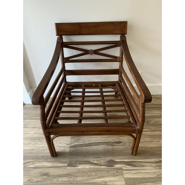 Vintage Mid-Century British Colonial Style Chair For Sale - Image 9 of 13