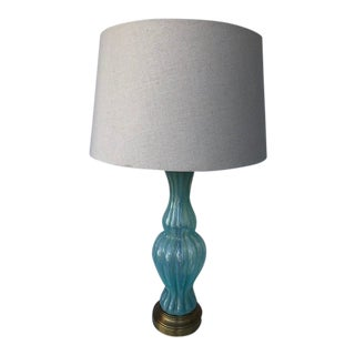 Vintage Opaline Murano Glass Table Lamp For Sale