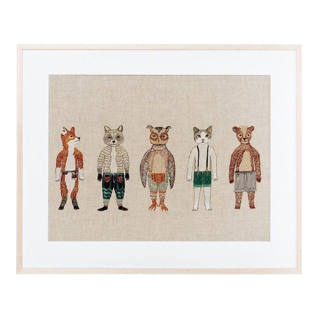 Dolls Framed Textile Art For Sale