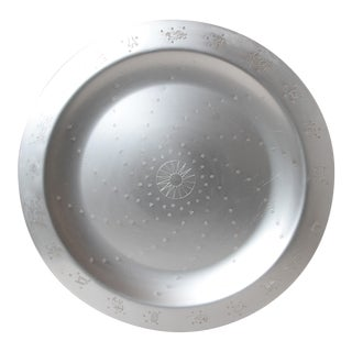 "Massive Art Deco Lurelle Guild Kensington Aluminum 18 inch "" Constellation "" Tray For Sale"