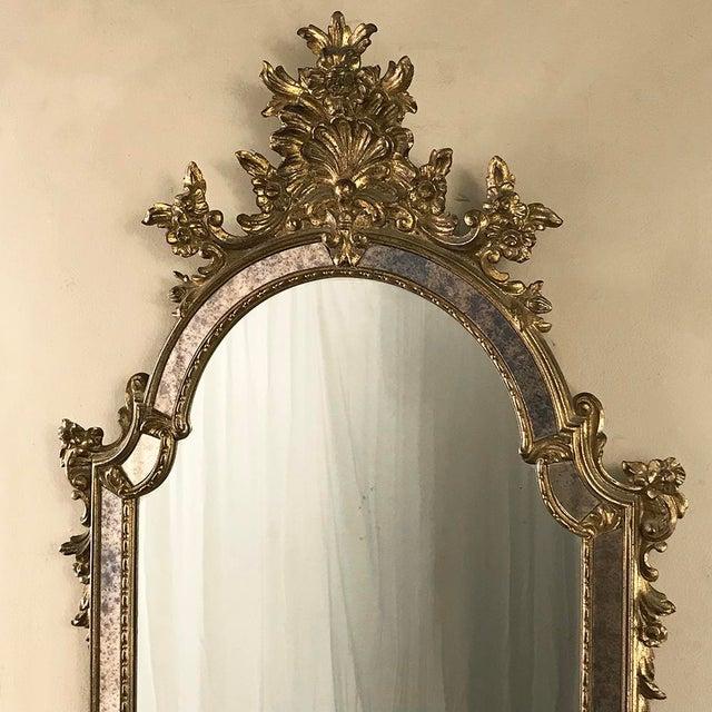 Mid-Century Italian Venetian Gilded Mirror For Sale - Image 4 of 13