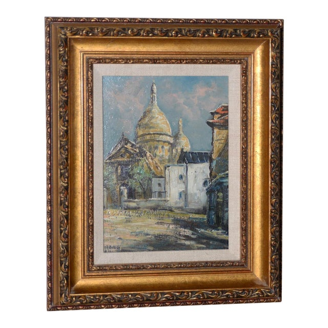 "Raymond Besse ""Sacré-Cœur, Paris"" Original Oil Painting C.1950s For Sale"