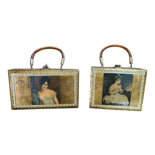 Gold Decor Wall Hanging Victorian Boxes - a Pair For Sale