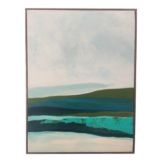 "Caryn Owen ""Alaskan Coast"" Original Abstract Painting"