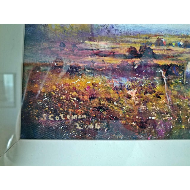 Country Irish Oil on Canvas of Ballaghadereen Bog by Seamus Coleman For Sale - Image 3 of 9