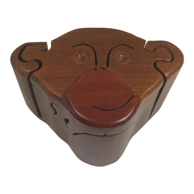 Wooden Monkey Puzzle Box For Sale