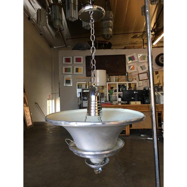 Art Deco Art Deco Spun Aluminum Multilevel Acorn Ceiling Pendant Lamp For Sale - Image 3 of 6