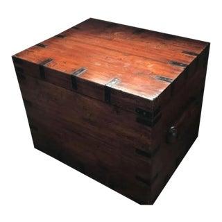 Antique Wooden & Iron Chest