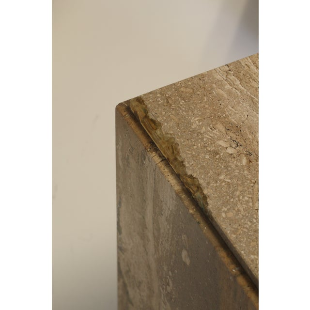 1970s 1970s Travertine Tables - a Pair For Sale - Image 5 of 8