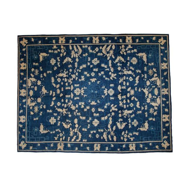 "Antique Peking Carpet - 8'9"" X 11'4"" For Sale - Image 13 of 13"