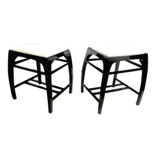 Pair of Austrian Secession Stools Attributed to Koloman Moser For Sale