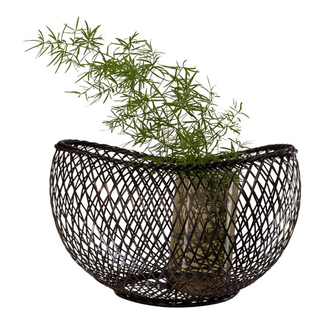 Bamboo baskets fashioned in a traditional Japanese style. Also available in light brown.