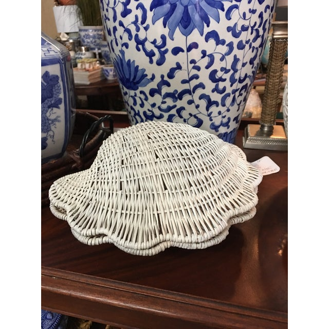 Vintage Wicker Shell Box For Sale In Miami - Image 6 of 6