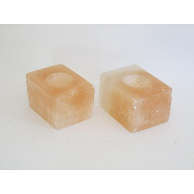 Pink Calcite Votive Candle Holders - A Pair - Image 6 of 7