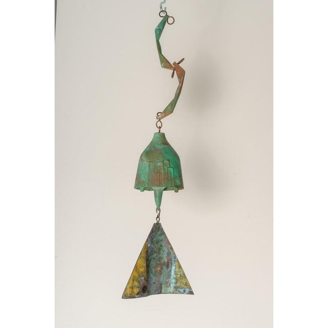 Mid-Century Modern Brutalist Bronze Wind Chime by Paolo Soleri For Sale - Image 10 of 12