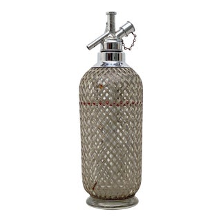 Art Deco Chrome and Wire Mesh Soda Siphon by Sparklets of London For Sale