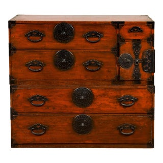 Japanese Meiji Period 19th Century Tansu Chest in the Sendai Dansu Style For Sale