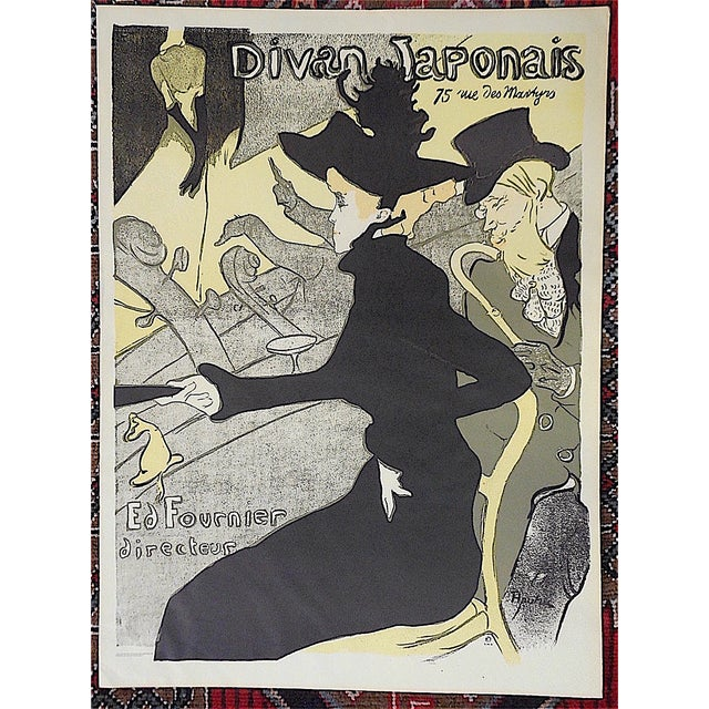 This lithograph (offset) by Henri Marie Raymond Toulouse-Lautrec (France 1864-1901) is a vintage 20th century limited...