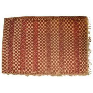 """Vintage Moroccan Wool Straw Rug - 6'5"""" x 8'8"""" For Sale"""