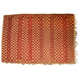 "Vintage Moroccan Wool Straw Rug - 6'5"" x 8'8"""