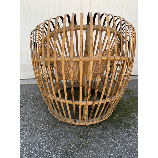 Brown Franco Abini Style Rattan Bamboo Chair For Sale - Image 8 of 13