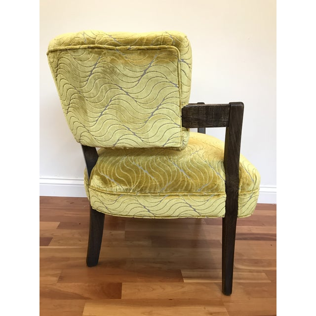 Art Deco 1940s Vintage Billy Haines Era Channel Back Chair For Sale - Image 3 of 12