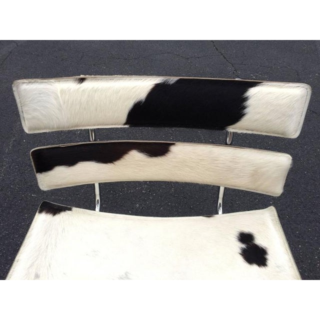 1970s Cowhide & Chrome Eames Style Chair For Sale - Image 5 of 12