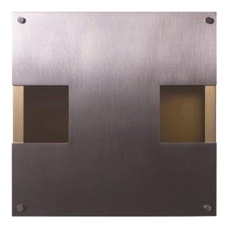 Contemporary 002 Sconce TT in Brushed Brass and Nickel by Orphan Work, 2018 For Sale