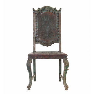 Circa 1950s Dom Pedro Embossed leather Side Chair Preview